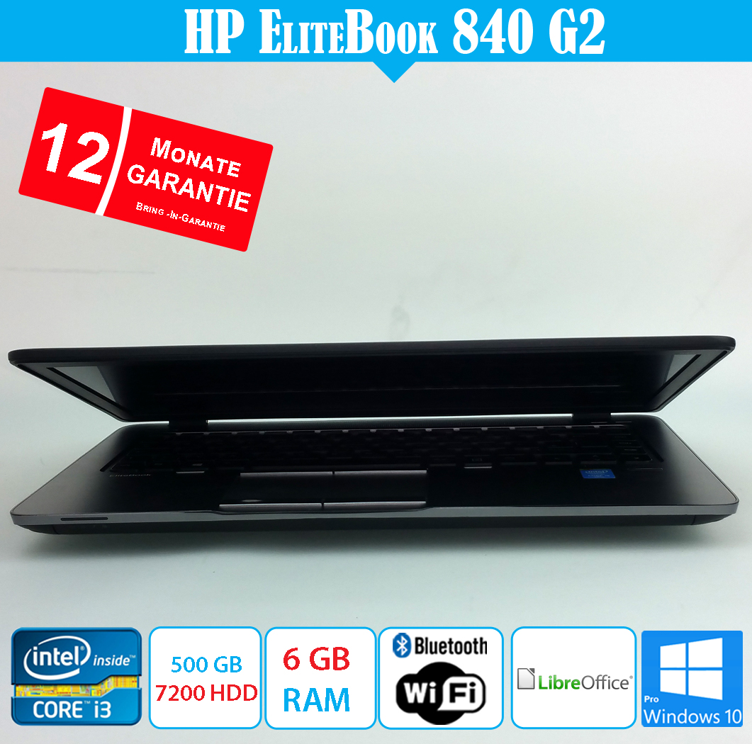 HP EliteBook 840 G2- i5 2.30 GHz - 6 GB DDR3 - 500 GB HD - mit Garantie
